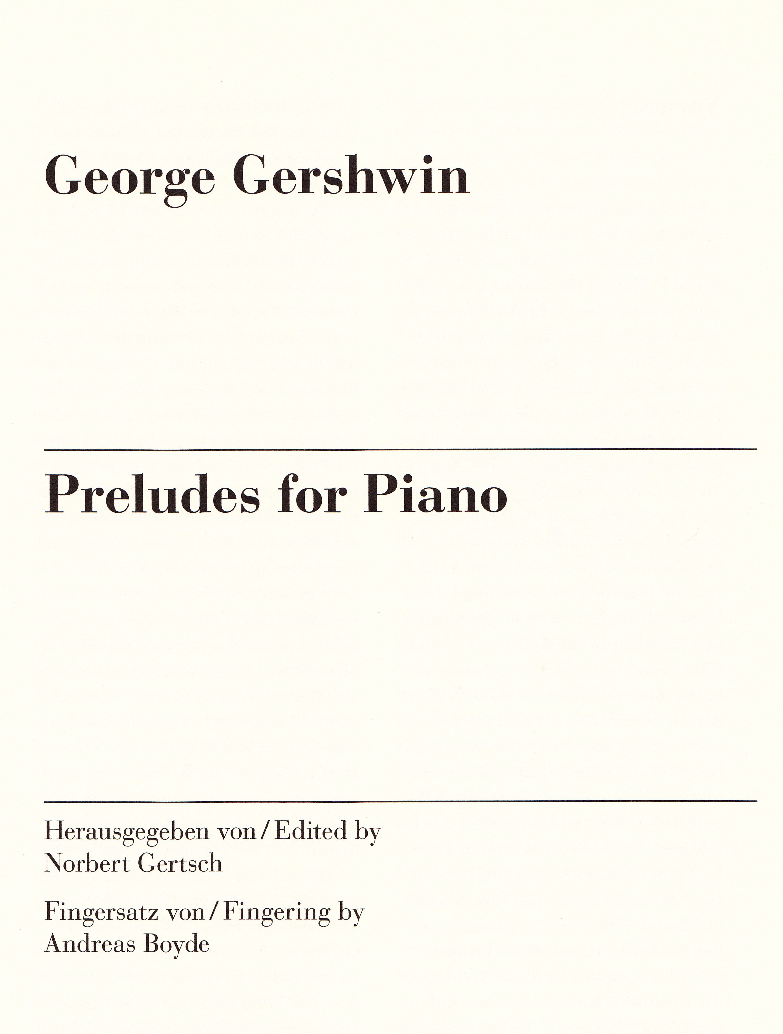 Henle Gershwin Preludes for Piano 2